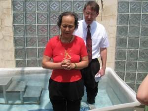 Mrs. Jiang's baptism