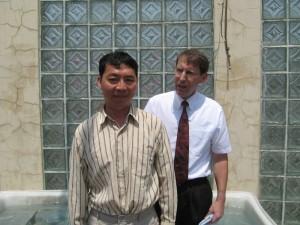 Mr. Jou's baptism